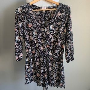 Mossimo Black with Paisley Print Romper